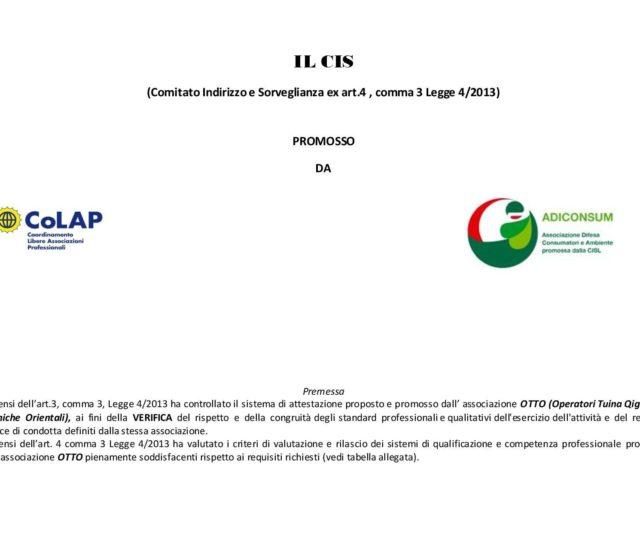 Il metodo di attestazione di OTTO ha avuto Validazione del CIS